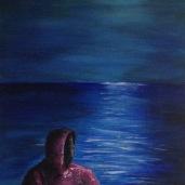 """Laurent Mora Art work """"Full Moon Meditation"""""""