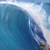 Laurent Mora Artwork surfing Pe'ahi (Jaws)Michel Laronde surfing Pe'ahi (Jaws) Maui Hawaii