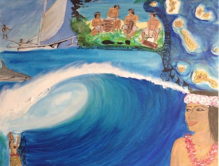 Laurent Mora Artwork  Tahiti