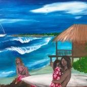 """Laurent Mora Artwork """"Family dream"""" 46 x 55"""