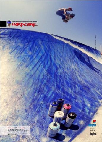 "Montana Colors ""Skate Contest"" Wave Skatepark Artwork: Laurent Mora / Photo : Julien Deniau"